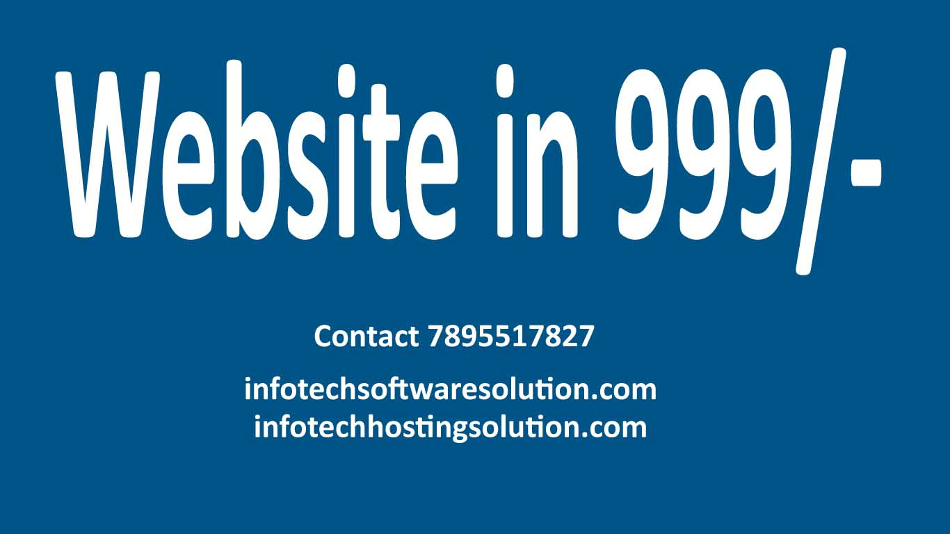 Mobile Compatible Dynamic website in Rs.999/- only