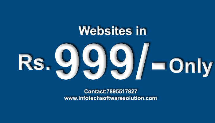 Now Get your own Attractive, Mobile Compatible website at Rs.999/- only