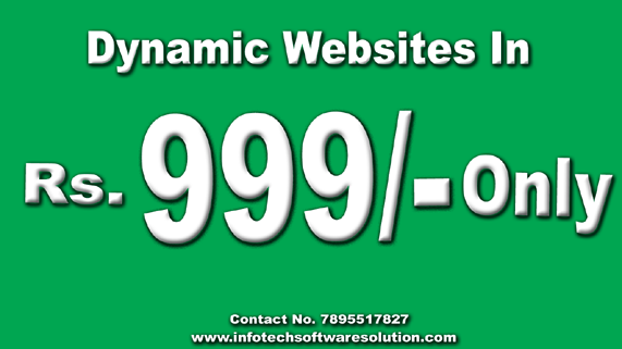 Web development and web designing company Chandigarh  in 999/- Only