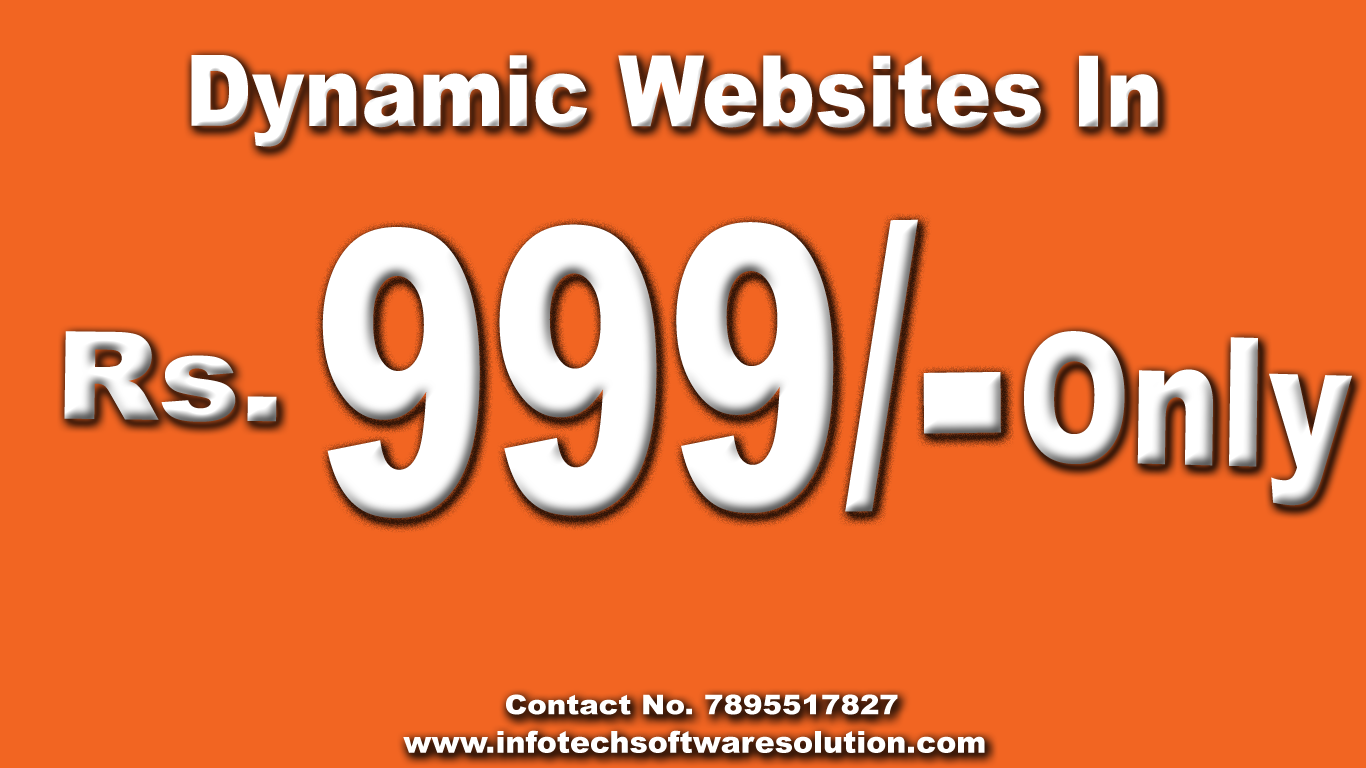 Dynamic Website designing and development  bangalore in 999/- Only